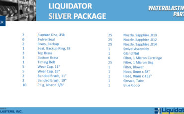 Liquidator Gold Spare Parts Package