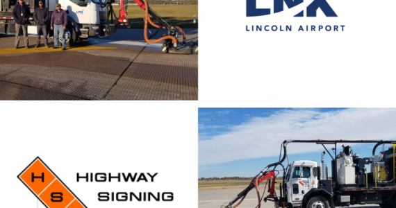 Liquidator customer Lincoln Airport Highway Signing Working together