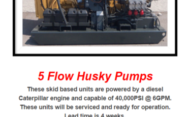 Husky pumps for sale Blasters Inc.